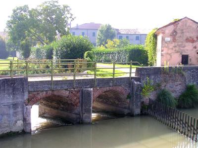 """Villa Michiel, Romanin, detta """"La Borghesana"""" vista dal lato Nord"""
