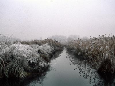 Brusà, canale d'nverno