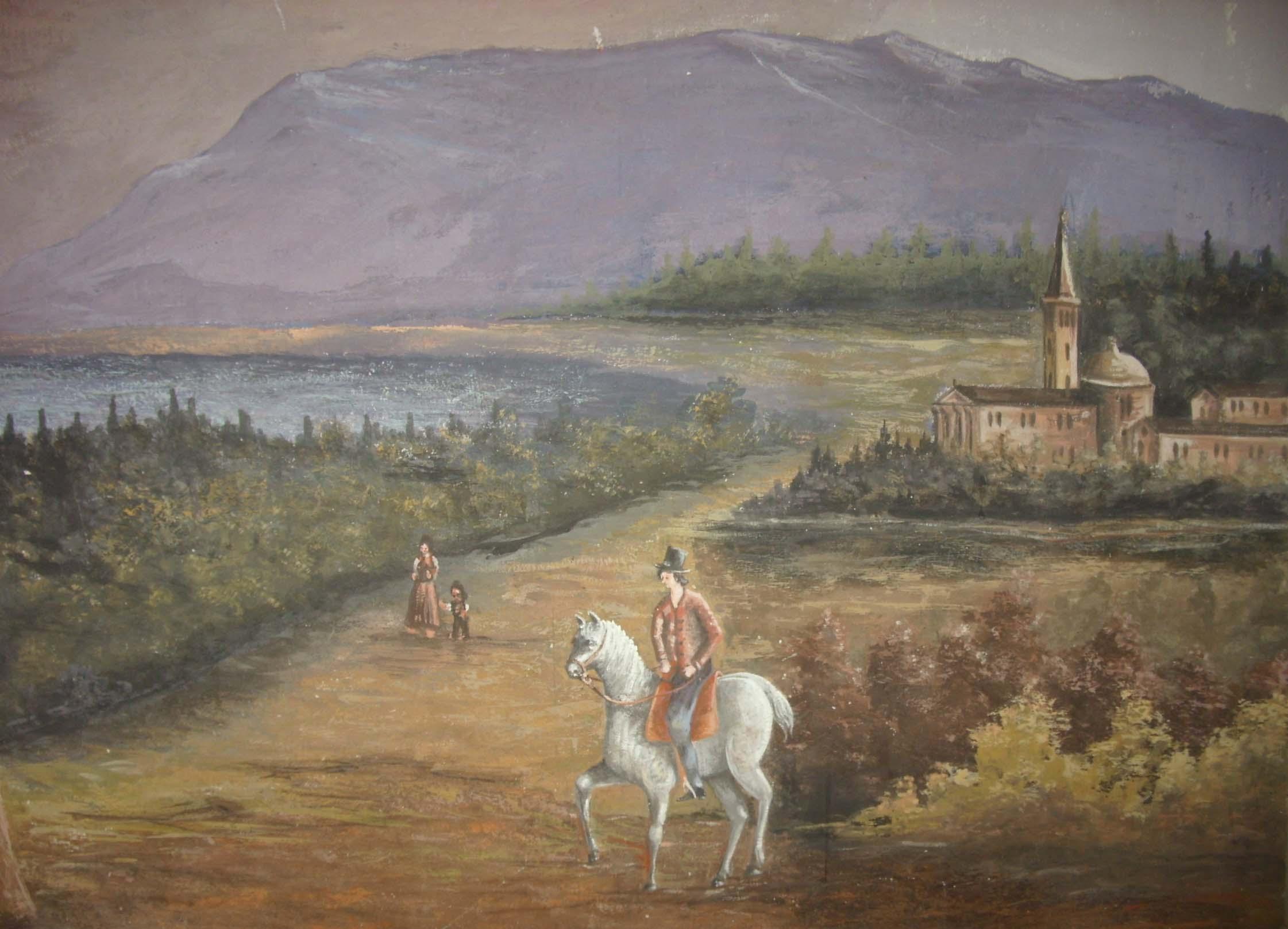 Affresco vedute a cavallo